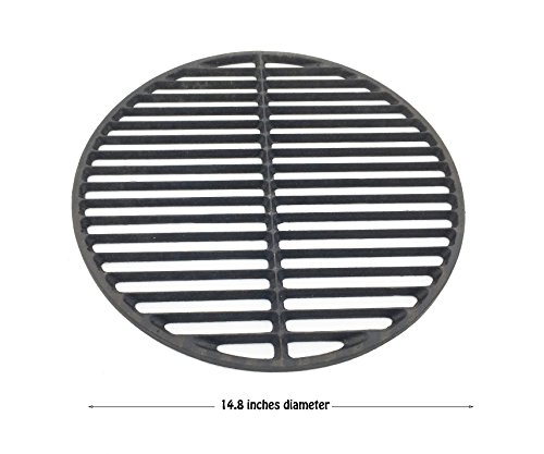 Dracarys Grill & Smoker Cast Iron Grids Round Cooking Grate Fit for A Medium Egg Grill & Smoker(Medium - 15