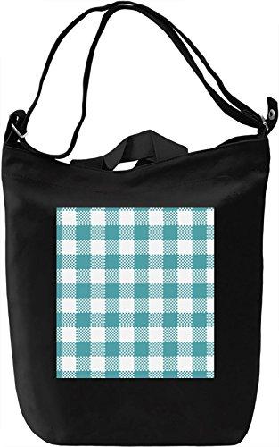 Blue Material Print Borsa Giornaliera Canvas Canvas Day Bag| 100% Premium Cotton Canvas| DTG Printing|