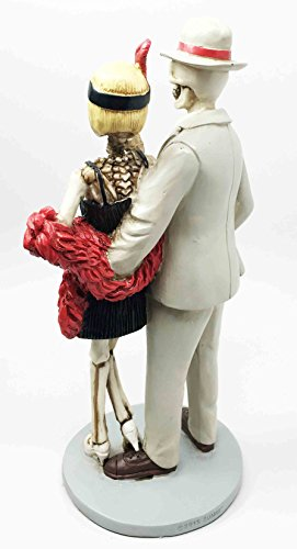 Roaring Twenties The Great Gatsby Figurine Dia De Muertos Day of The Dead Dance Couple by Ebros Gift (Image #2)