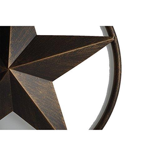 "12"" BARN STAR LONE STAR WESTERN HOME DECOR METAL ART TEXAS STYLE"