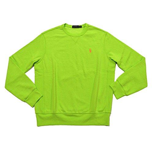 Polo Ralph Lauren Mens Fleece Crewneck Sweatshirt (Marathon Green, M) (Mens Lauren Ralph Fleece)