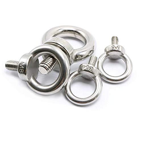 M8X13 304 Stainless Steel Male Thread Lifting Ring Eye Bolt Eyebolt Screws Machinery Shoulder 5PCS