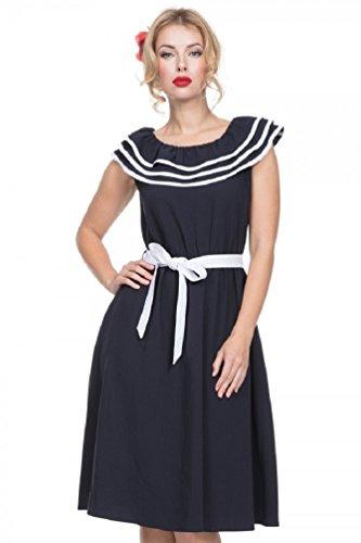 Voodoo Vixen Hope Nautische 50er Jahre Retro Sailor Abend Cocktail Beach Holiday Kleid