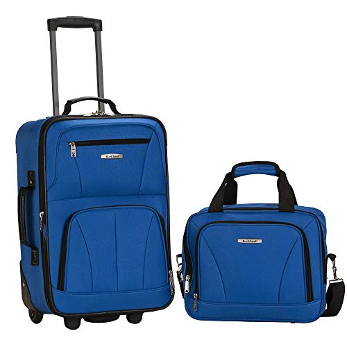 - Rockland Luggage 2 Piece Set, Blue, One Size