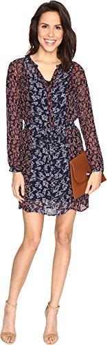 mixed print dress - 7