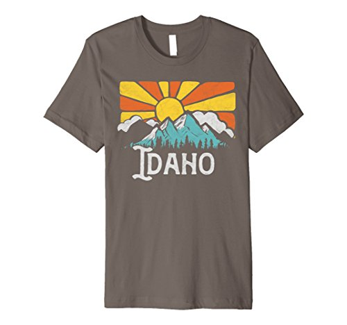 Idaho Retro Mountains   Sun Eighties Style Vintage Shirt