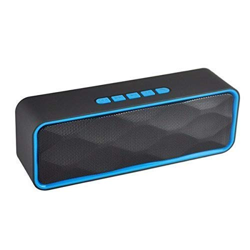 Teconica CS-211 CXZ56 Wireless Portable Bluetooth HiFi Bass Speaker with USB|FM|AUX|TF Card and Compatible All Smart Devices (Multi Colors)