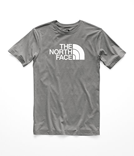 The Jersey Print North Face - The North Face Men's S & S Half Dome Tri- Blend Tee - TNF Medium Grey Heather & TNF White - S