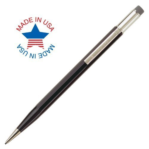 Autopoint® All-American® Pencil, 1.1mm tip, Paneled Barrel, Black, American Made (60010BK)