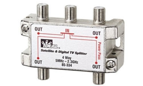 Ideal 85-334 4-Way Digital Cable Splitter, 2 GHz