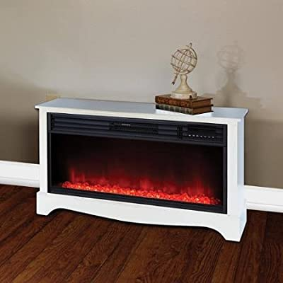 Lifesource 20 Tall Heater Fireplace with Color Change LED Affect, White Cabinet by BLOSSOMZ