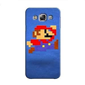Cover It Up - Mario Pixelated Blue Samsung Galaxy E5 Hard Case