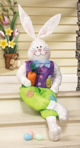Collections Etc - Stuffable Easter Bunny Outdoor Welcome Greeter