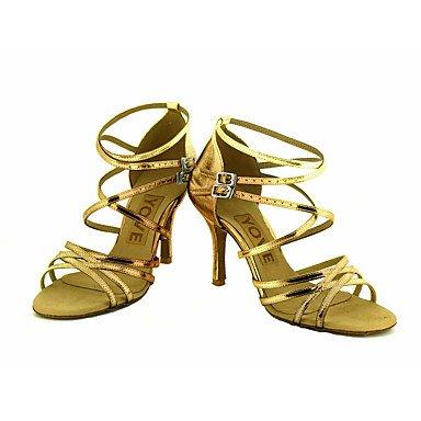 de Negro Personalizado Azul Latino Personalizables Baile Tacón Zapatos KYDJ Plata gold Rojo Oro Salsa q5wt44