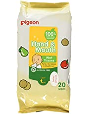 Pigeon Hand and Mouth Wet Tissues, 20ct (Pack of 2) (Packaging May Vary)