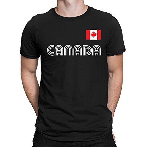 Canada Baseball Jersey - SpiritForged Apparel Canada Soccer Jersey Men's T-Shirt, Black XL