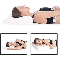 RK International Pillow Memory Foam Pillow Standard Size Neck & Back Support Pillow for Sleeping with Removable Zipper Cover (Standard, Memory Foam Set of 1)