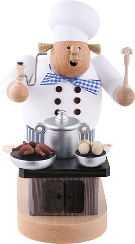 KWO German Incense Smoker Cook with oven - 20 cm / 8 inch - Authentic German Erzgebirge -