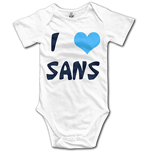 I Love Sans Organic For Climbing Clothes Infant Rompers - White