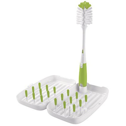OXO Tot On-the-Go Travel Drying Rack with Bottle Brush