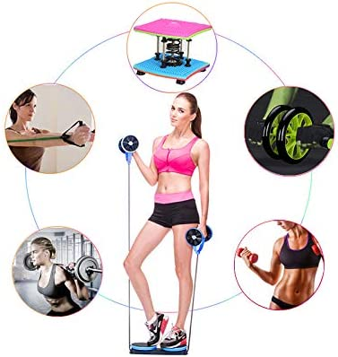 KAZOLEN Upgrade Ab Roller Wheel Multi-Functional Home Exercise Equipment Core Ab Workout Abdominal Wheel Machine Abs Exercise Fitness Trainer Ab Roller Home Gym Equipment… 6