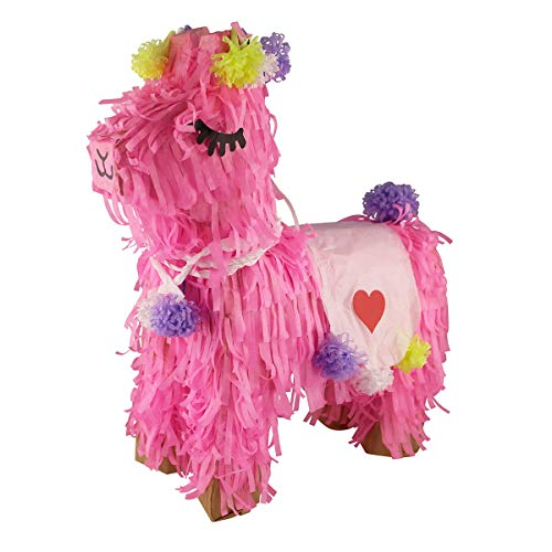 - Aurabeam Pink Llama Pinata - Classic Hand Crafted Party Piñata - Hand made in Mexico