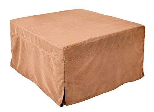 NOVA_FURNITURE Ottoman Sleeper Bed, Foam Mattress, Folding Convertible Bed with Guest Hideaway Bed, No Assembly Required,Microfiber Slip Cover,Camel
