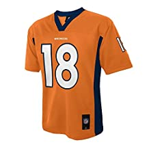 Peyton Manning #18 Denver Broncos NFL Youth Team Color Jersey Orange (Youth Medium 10/12)