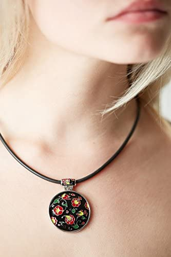 with Secure Lobster Lock Clasp 16 Solid 925 Sterling Silver 16inch Burgundy Leather Necklace
