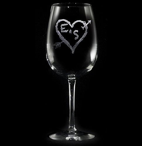 engraved-personalized-wine-glasses-arrow-in-a-heart-wedding-gift-ideas-set-of-1