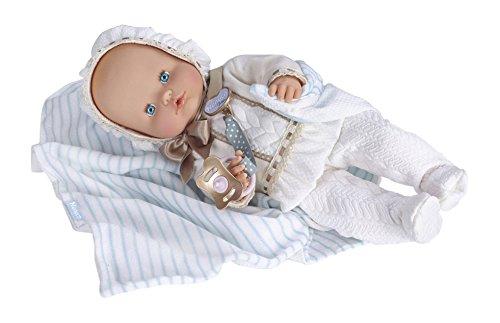 Nenuco Boutique bebé-vestido, color blanco (Famosa 700013107)