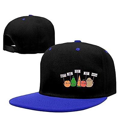bevoicep Unisex I Hate Vegans Hip Hop Flatbrim Snapback Caps Contrast Color Baseball Caps for Women
