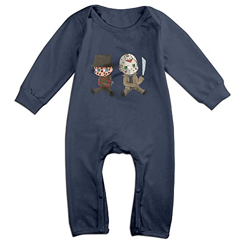 MoMo Nightmare On Elm Street Toddler/Infant Romper Bodysuit Outfits 24 Months Navy (Rick And Morty Nightmare On Elm Street)