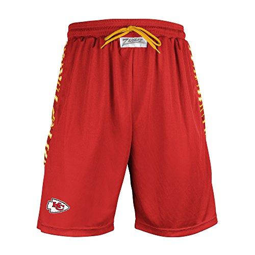 Team Logo Active Shorts (NFL Kansas City Chiefs Men's Zubaz Zebra Print Accent Team Logo Active Shorts, Small, Red)