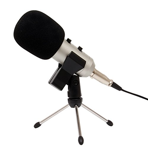 3.5mm Condenser Sound Podcast Studio Microphone For Laptop Silver - 6