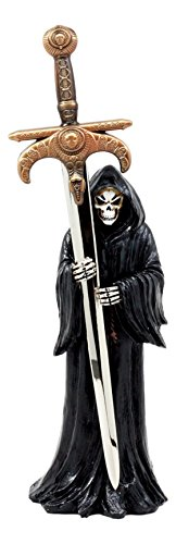 Ebros Death Mail Grim Reaper Letter Opener Holding Golden Dagger Sword For Study Office Desktop Decor (And Daggers Collectable Swords)