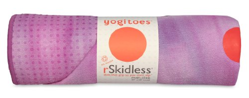 Yogitoes Skidless Premium Mat-Size Yoga Towel, Purple Taffy