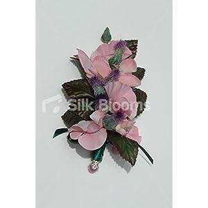 Modern Pink Sweetpea & Mini Thistle Scottish Wedding Buttonhole 88
