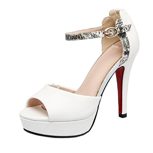 White Sandals Open Toe Coolcept Platform Women Fashion TwqRYHZ