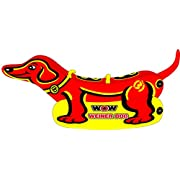 #AmazonGiveaways WoW Watersports Weiner Dog 19-1000, 1 to 2 Person Towable Tube, Easy Boarding