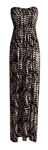 Femme Maxi Sheering Tribal De Impression De Fast Imprim Boobtube Serpent Animal Robe Aztque Fashion Lopard wCT7qT