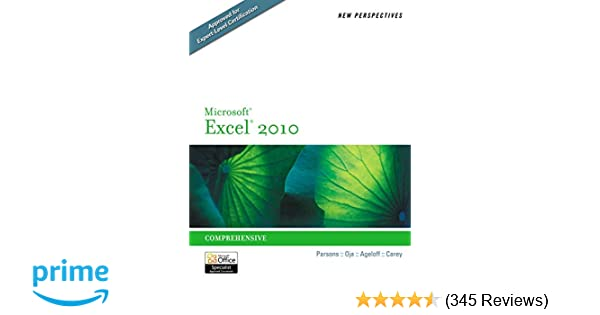 New Perspectives On Microsoft Excel 2010 Introductory Pdf