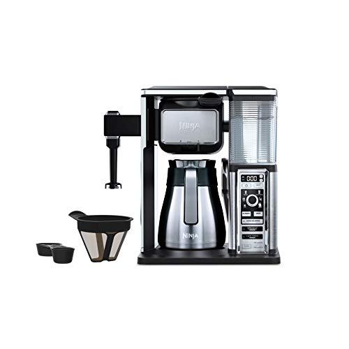 (Ninja Coffee Bar Auto-iQ Programmable Coffee Maker with 6 Brew Sizes, 5 Brew Options, Milk Frother, Removable Water Reservoir, Stainless Carafe)