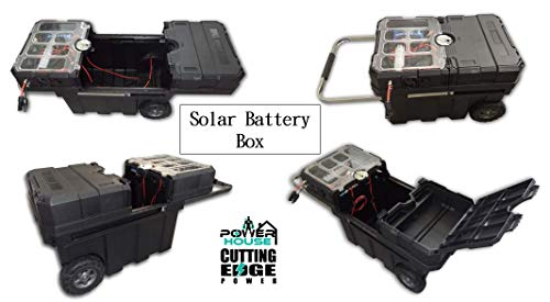 Cutting Edge Power 1200W MPPT Rolling Solar and Wind Turbine Generator with 1000W Inverter and Wheels, Portable Battery Box (Solar Only / (2) 100Ah Battery, 1000W Pure Sine Inverter)