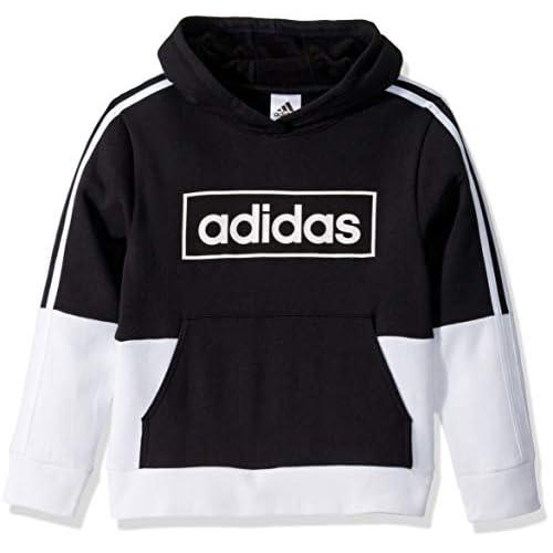adidas Boys' Colorblock Pullover Sweatshirt