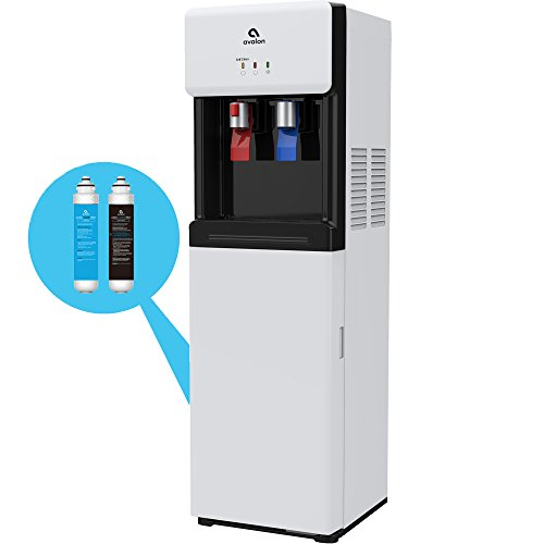 Avalon Self Cleaning Bottleless Water Cooler Dispenser - Hot & Cold Water, Child Safety Lock, Innovative Slim Design - UL/Energy Star Approved- White - A7BOTTLELESSWHT