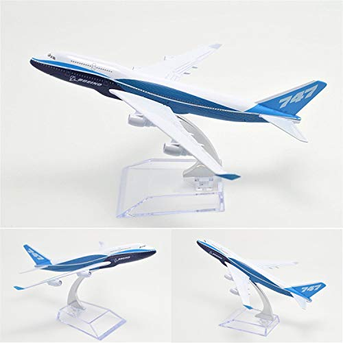 GUOLIAN Boeing 747 16cm Metal Airplane Models Child Birthday Gift Plane Models Home Decoration Plane Model Office Decoration or Gift