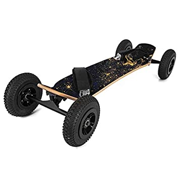 Happybuy MountainBoard 39 All-Terrain Skateboard Longboard Off Road Skateboard with Bindings for Cruising, Free-Style, Downhill and Dancing