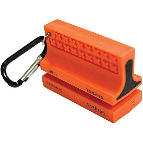 UST Ceramic Knife Sharpener with Carabiner, Orange