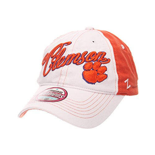 (Zephyr NCAA Clemson Tigers Adult Women Vogue Women's Relaxed Hat, Adjustable, White/Team Color)